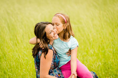 Mother and child hugging Royalty Free Stock Photo