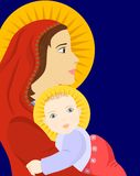 Mother and child  icon Royalty Free Stock Images