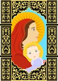 Mother and child icon Stock Photo