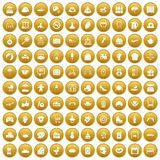 100 mother and child icons set gold. 100 mother and child icons set in gold circle isolated on white vector illustration stock illustration