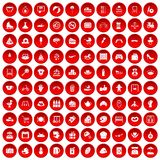 100 mother and child icons set red. 100 mother and child icons set in red circle on white vector illustration vector illustration