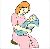 Mother with child illustration Stock Image