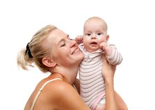 Mother and child isolated Stock Image