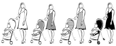 Mother with child royalty free illustration