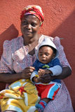 Mother and child living in Mondesa slum Royalty Free Stock Images