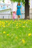 Mother and child in nature Royalty Free Stock Photos