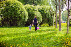 Mother and child in nature Royalty Free Stock Image
