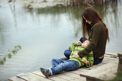 Mother with child outdoor Stock Photography
