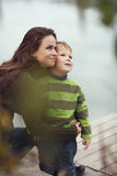 Mother with child outdoor Stock Photo