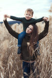 Mother with child outdoor Royalty Free Stock Photos