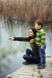 Mother with child outdoor Royalty Free Stock Photography