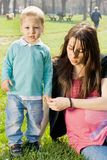 Mother and child outdoors Stock Photography