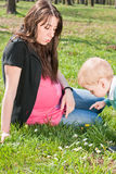 Mother and child outdoors Royalty Free Stock Photos