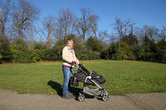Mother with child in the park Royalty Free Stock Photos