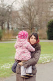 Mother with Child in Park Stock Image