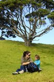 Mother and Child Picnic Royalty Free Stock Photography