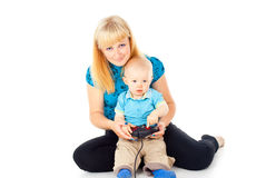 Mother and child play Royalty Free Stock Photography