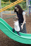 Mother and child at the playground Royalty Free Stock Photo