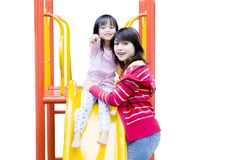 Mother with child in the playground Stock Image