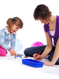 Mother with child playing Royalty Free Stock Image
