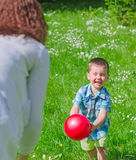 Mother and child playing stock image