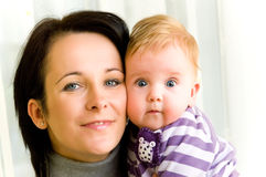 Mother and child portrait Stock Images