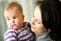Mother and child portrait Stock Photography