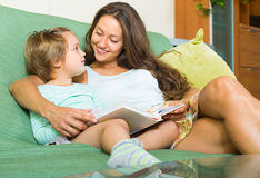 Mother and child reading book Royalty Free Stock Photo