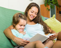 Mother and child reading book Stock Photography