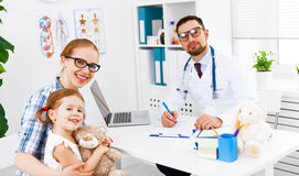 Mother and child on reception at doctor Royalty Free Stock Photos