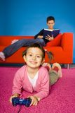 Mother and child relaxing.  Stock Photography
