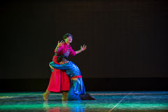 Mother and child reunion-Mongolia nationality dance Stock Photography