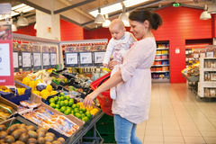 Mother and child shopping Royalty Free Stock Photo