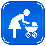 Mother and child sign Stock Images