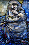 Mother and child in stained glass Royalty Free Stock Photos