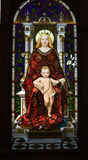 Mother and Child Stained Glass Vatican Museum Royalty Free Stock Photography