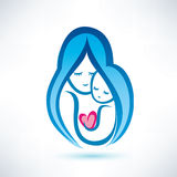 Mother and child symbol Royalty Free Stock Photos