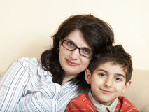 Mother and child together Stock Photography