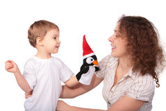 Mother with child and toy Royalty Free Stock Photos