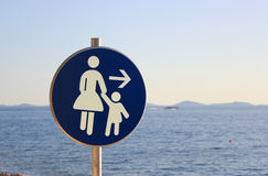 Mother and child - traffic sign Royalty Free Stock Photo