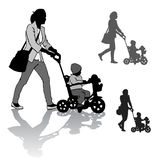 Mother with child on walk Royalty Free Stock Photo