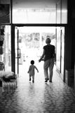 Mother and child walking royalty free stock photography