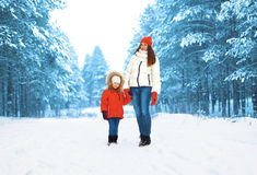 Mother with child walking Royalty Free Stock Image