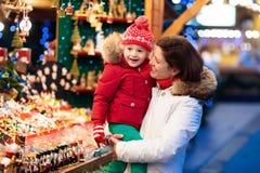 Family shopping Christmas presents Stock Photos