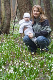 Mother and child in the woods Stock Photography