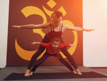 Mother and child yoga practice Stock Photography