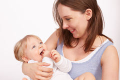 Mother and Child. Young Mother and pretty child royalty free stock image