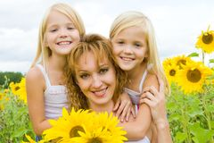 Mother and children Stock Image