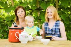 Mother with children Royalty Free Stock Photos
