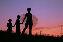 Mother and children stock images